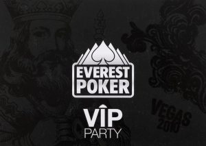 Everest Poker VIP Party digital print campaign