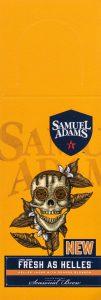 Samuel Adams Fresh as Helles beer label