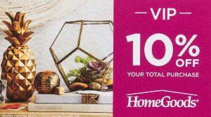 HomeGoods 10% Off digital print campaign