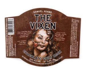 Samuel Adams The Vixen Chocolate Chili Bock bottle label