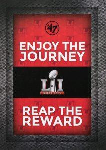 Super Bowl digital print campaign