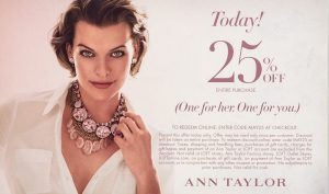 Ann Taylor direct mail campaign