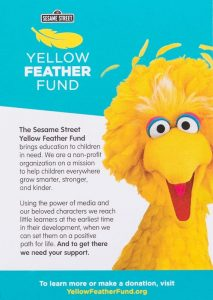Sesame Street Yellow Feather Fund direct mail campaign
