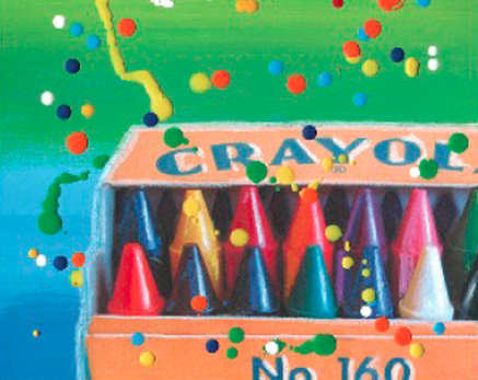 color print of crayola crayon box