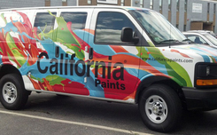 large format printed vehicle wrap