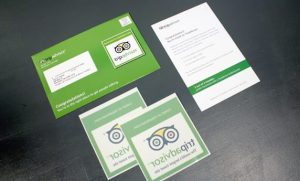 TripAdvisor direct mail sticker mailer