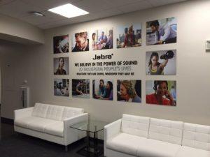 large format printing for Jabra
