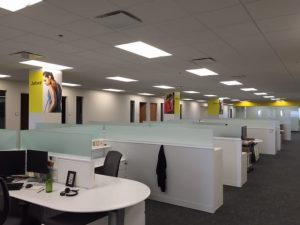 Interior wall coverings for office building