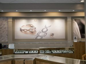 large format printed wall covering of diamond ring