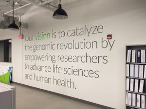 large format printed wall lettering