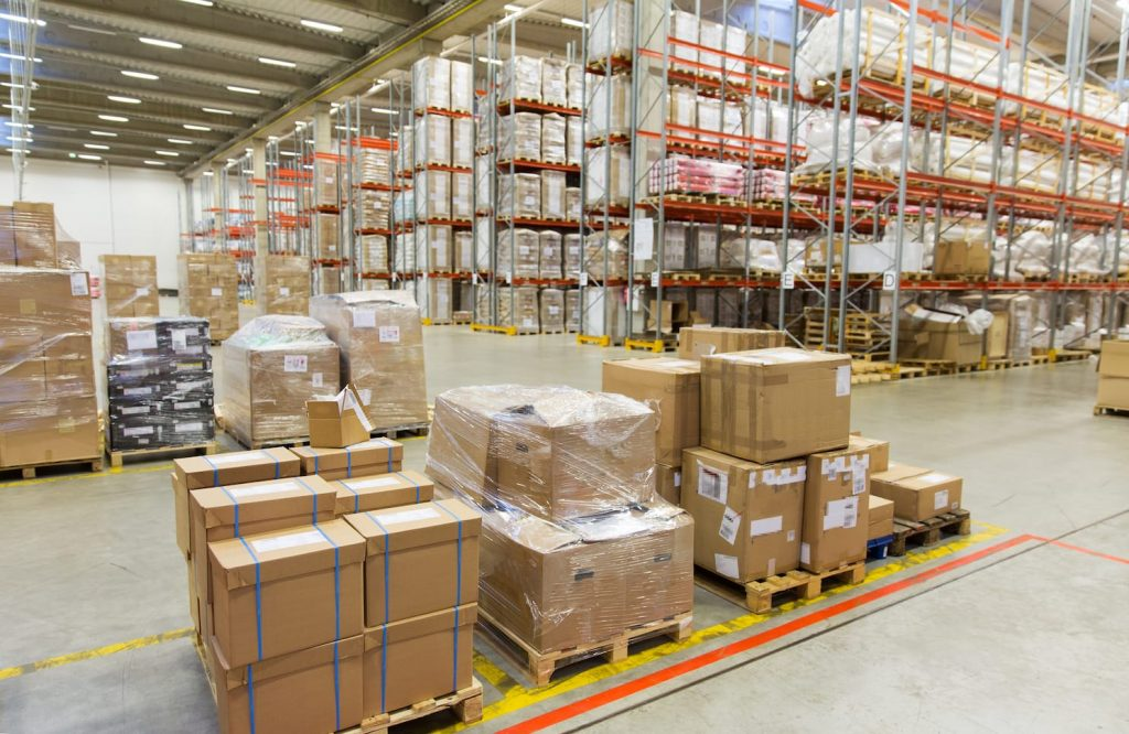 warehouse with packages