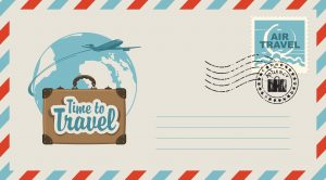 time to travel post card
